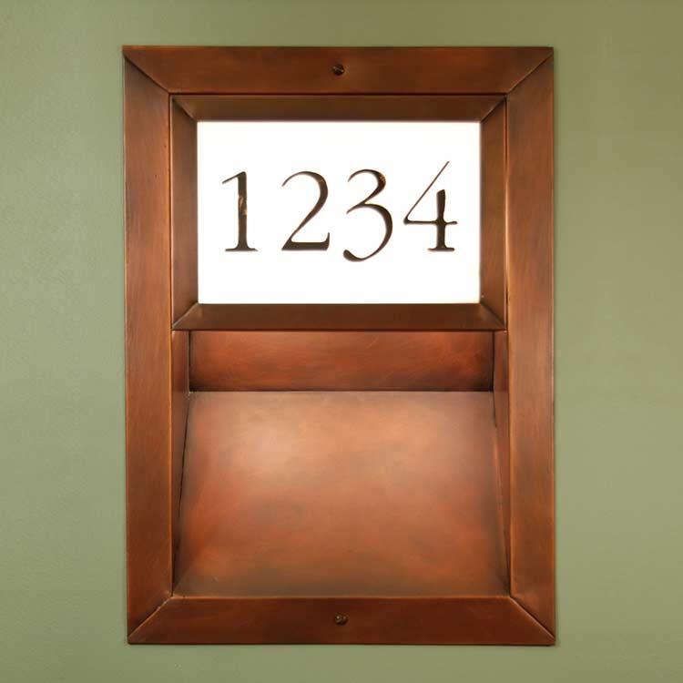 Custom Recessed Address Light RAL1